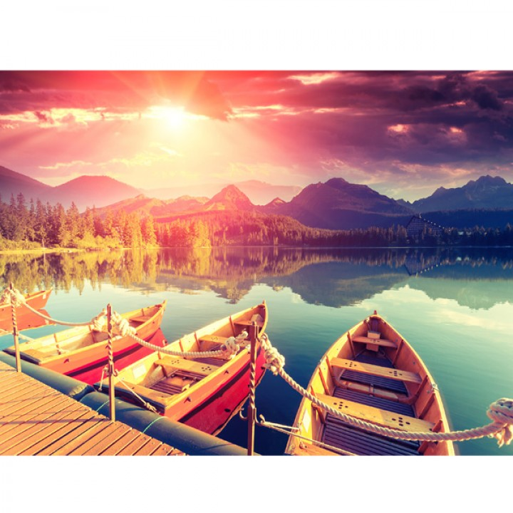 Картина АGL1-041 в раме 30*40*4,5 глянцевая Озеро