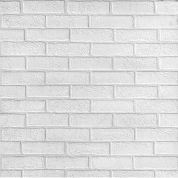 Панель МДФ с тиснением 930х2200х6 мм кирпич белый под покраску white 00