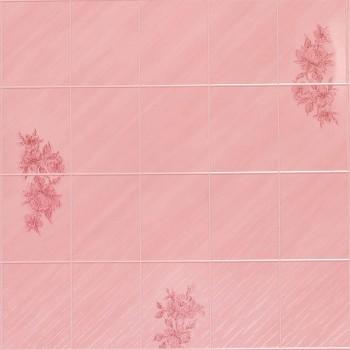 Листовая панель ДВП Eucatex Roseta Lily 6x8/Розовая Лилия 15х20 (1220x2440x3 мм)