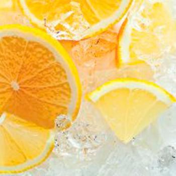 Панель декоративная матовая 2440х600х4 мм Апельсин PM 022 (кухонный фартук МДФ)