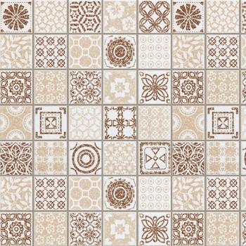 Панель декоративная матовая 2440х600х4 мм Бежевая плитка PM 002 (кухонный фартук МДФ)