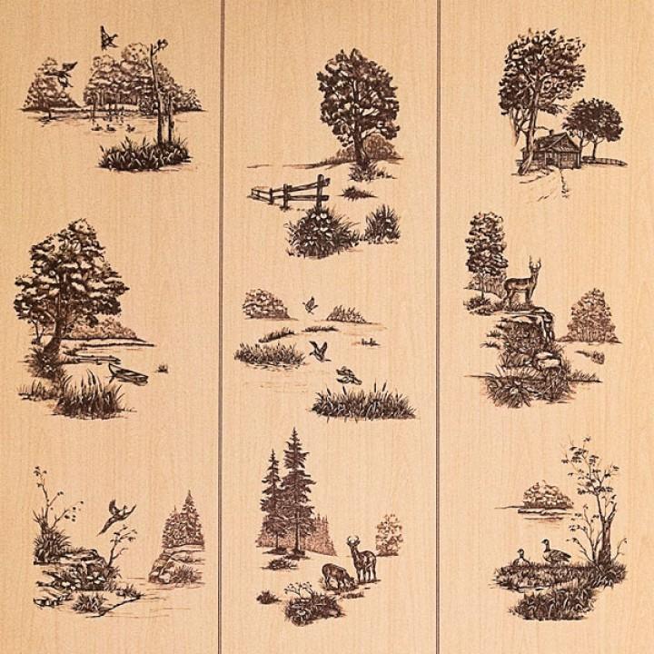 Декоративная панель МДФ RUKUS Живая природа Клен 1220х2440х3 мм