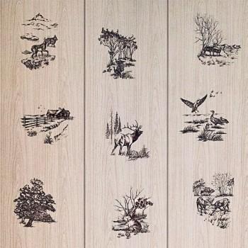 Декоративная панель МДФ RUKUS Лесной пейзаж цвет дуб беленый 1220х2440х3 мм