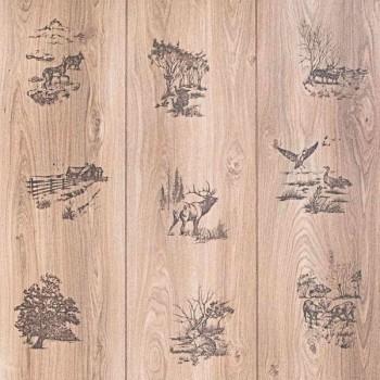 Декоративная панель МДФ RUKUS Лесной пейзаж бумага Дуб Каньон Кастл 1220х2440х3 мм
